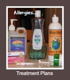 Dog allergy treatment plans.