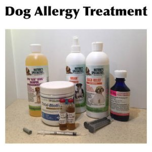 Products for dog allergy treatment