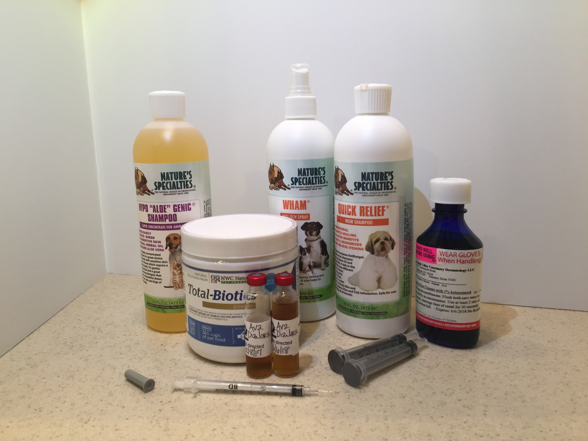 Products to treat dog allergies